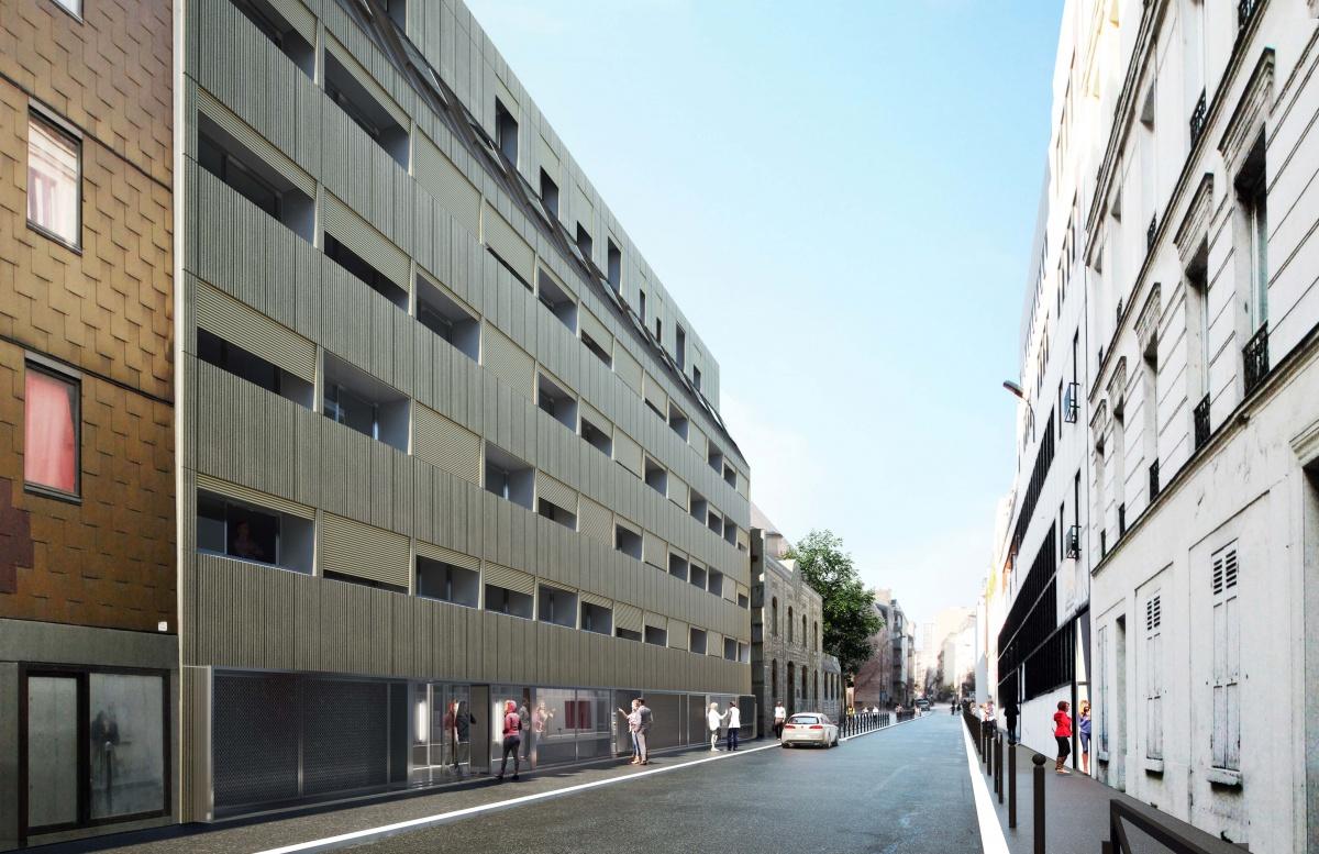 231 logements à Paris - Construction neuve de 81 logements et réhabilitation de 150 logements : SKP_DOM-VUE RUE