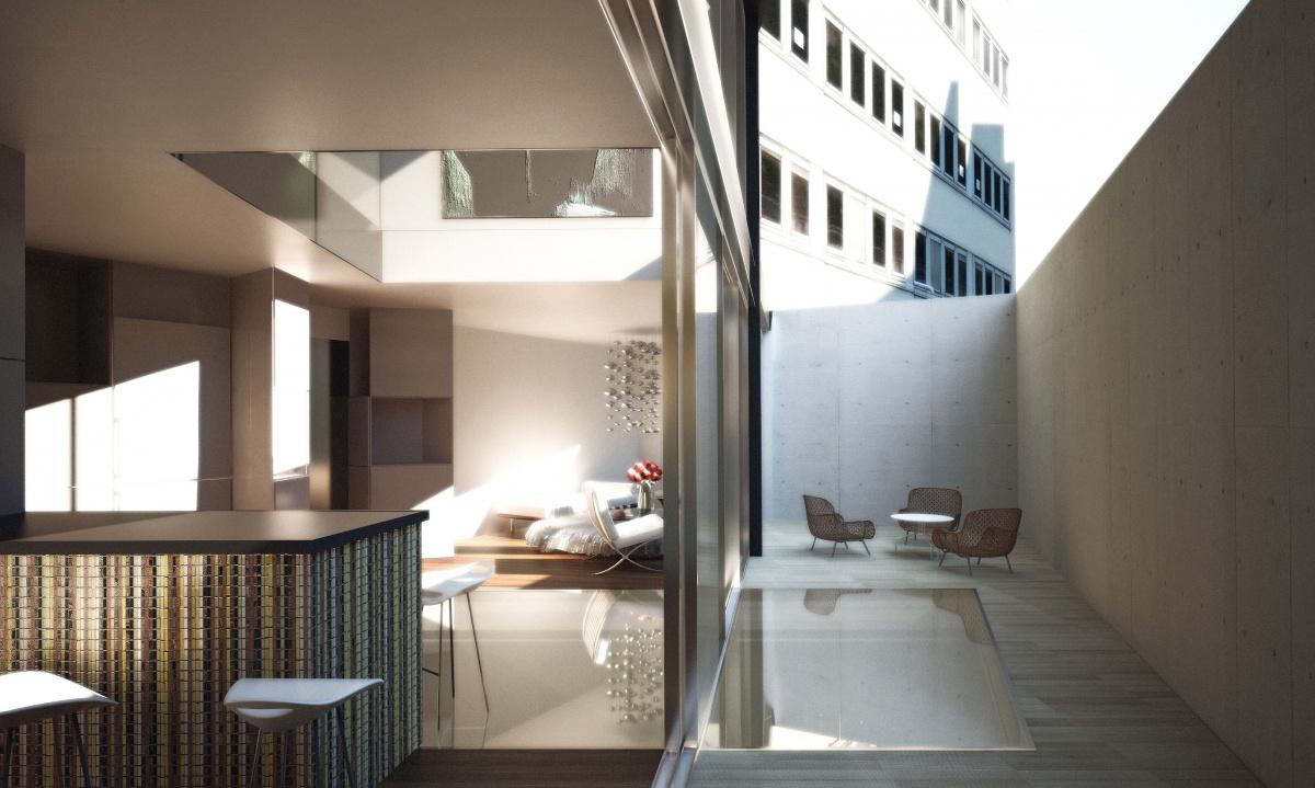 7 logements en surélévation à Paris : SKP_PATIO 2