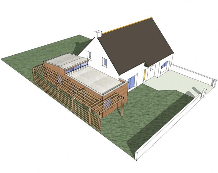 extension d 39 une maison d 39 habitation 44 carquefou une r alisation de kutch sarl. Black Bedroom Furniture Sets. Home Design Ideas