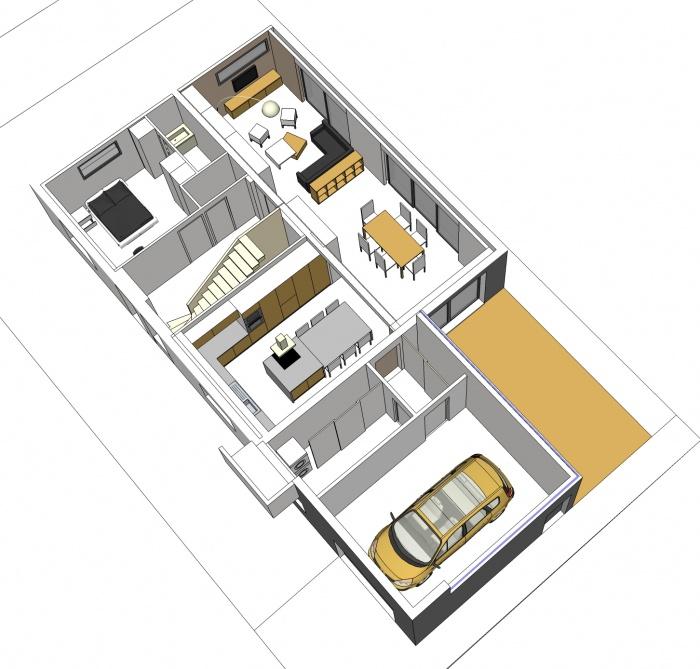 r am nagement maison nantaise et extension chapelle sur erdre la une r alisation de zoou. Black Bedroom Furniture Sets. Home Design Ideas