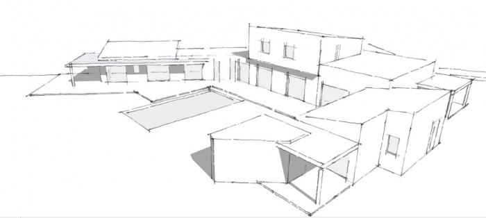 Plan Maison En U. Gallery Of Cool First U Second Floor Plan Bright