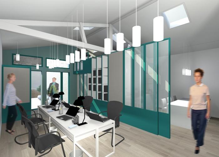 Réhabilitation complète d'un local en bureaux