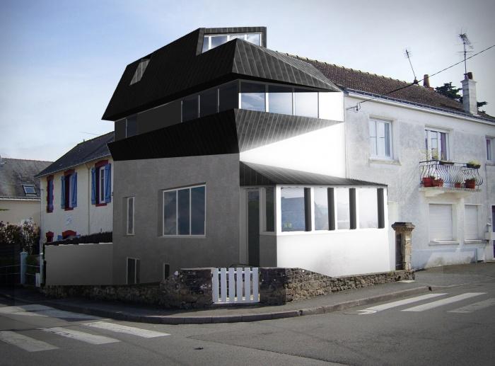 Sur l vation d 39 une maison individuelle loire atlantique for Architecte nantes maison individuelle