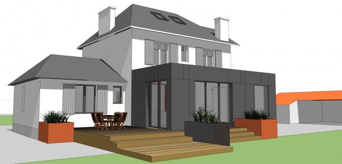 Extension cuisine et salle manger savenay for Projet d extension maison