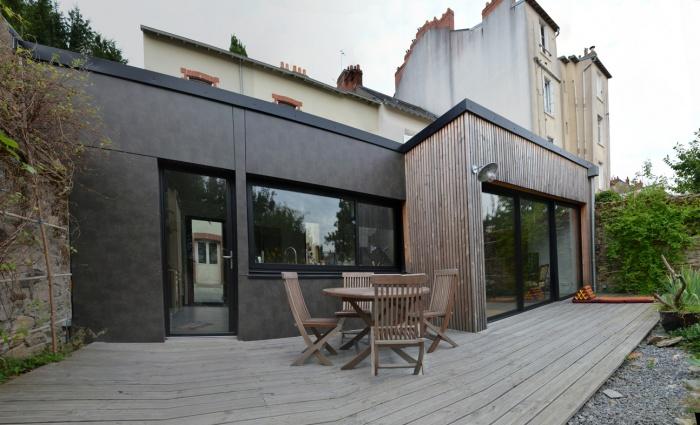 extension d 39 une maison nantaise nantes. Black Bedroom Furniture Sets. Home Design Ideas