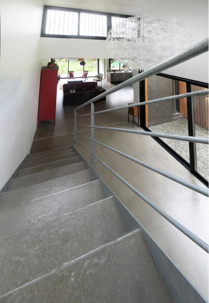 extension d'une maison Nantaise : escalier