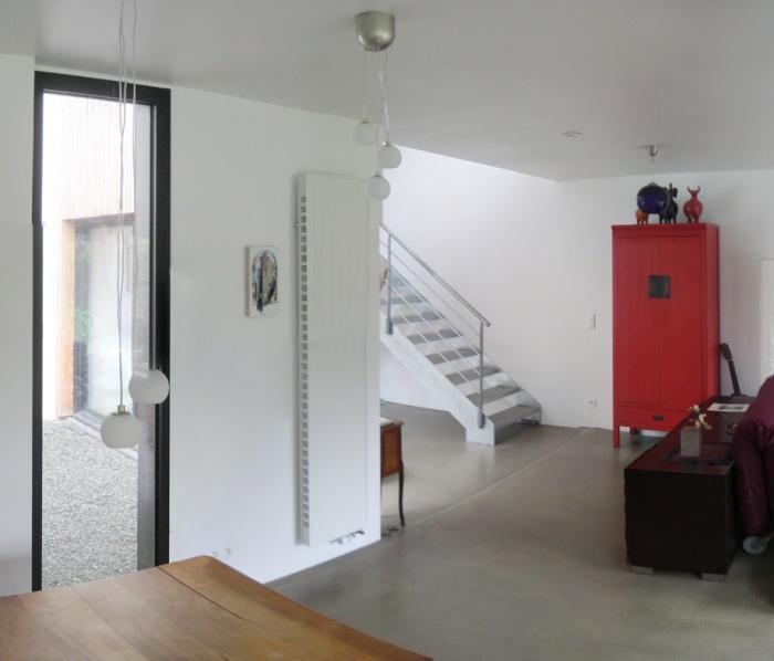 extension d'une maison Nantaise : interieur