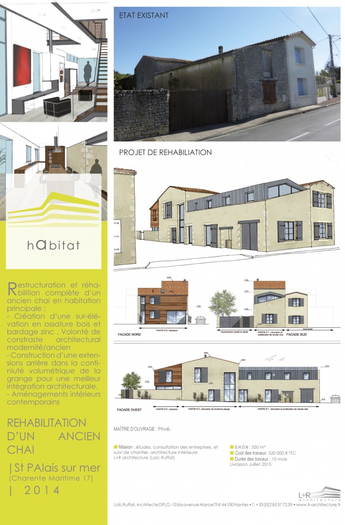 Extension surélévation et rénovation d'un ancien Chai