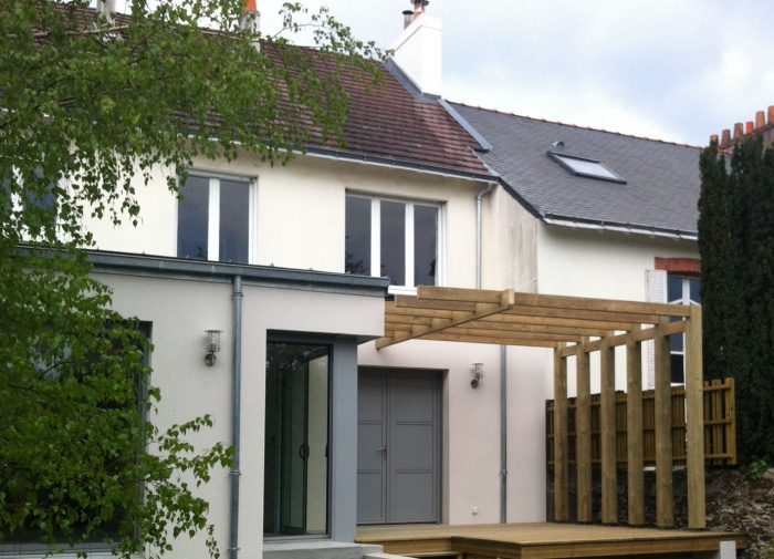 Extension d 39 une maison nantaise nantes for Extension sur terrasse