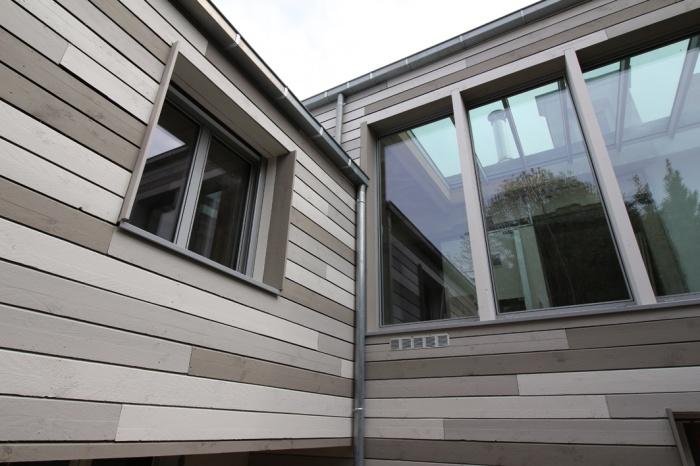 Extension et surélévation d'une maison : façade