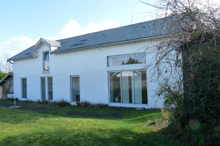 Réhabilitation D Une Grange En Habitation réhabilitation d'une grange en maison d'habitation à bouguenais