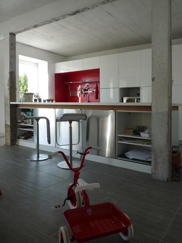 Réhabilitation d'une grange  en maison d'habitation : ilotcuisine.JPG