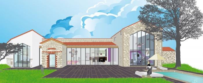 R affectation d 39 une grange en habitation contemporaine - Rehabilitation d une grange en habitation ...