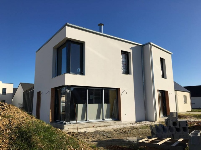 Construction d'une maison contemporaine