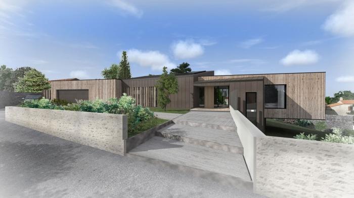Construction d'une maison à Vertou : Construction d'une maison ossature bois à VERTOU