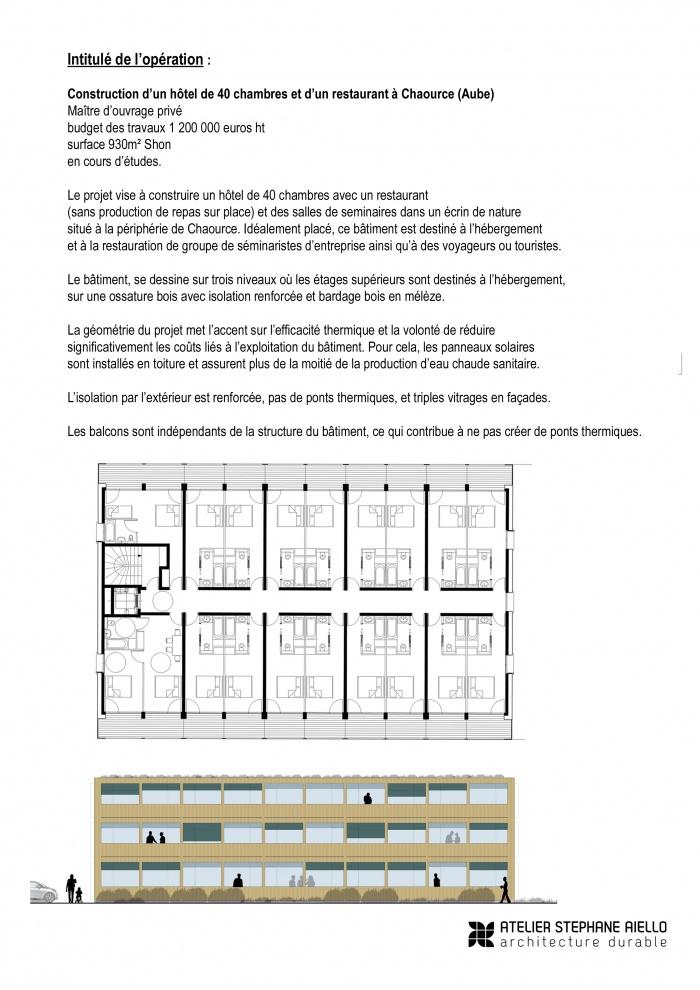 Construction d'un hôtel de 40 chambres