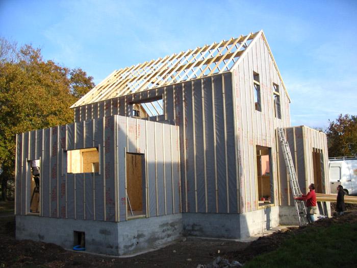 maison bois sur fondations en maçonnerie