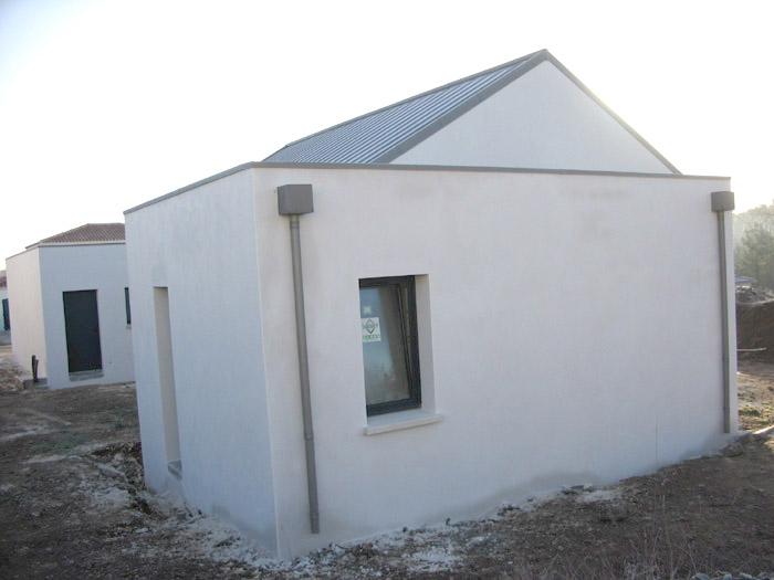 Extension De Maison Avec Toit Plat. Maison Ossature Bois Bardage