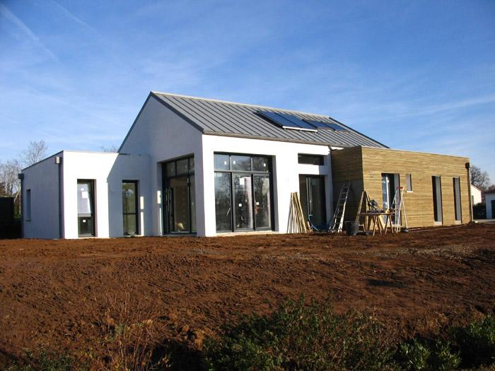 Projet construction d 39 une maison d 39 habitation 85 roche - Maison avec angle casse ...